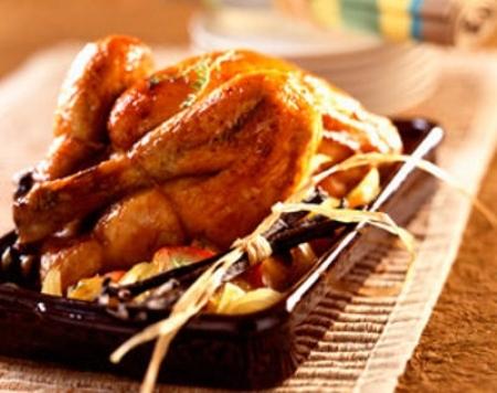 Histoire de Vanille, 100% Bio - poulet rôti vanillé