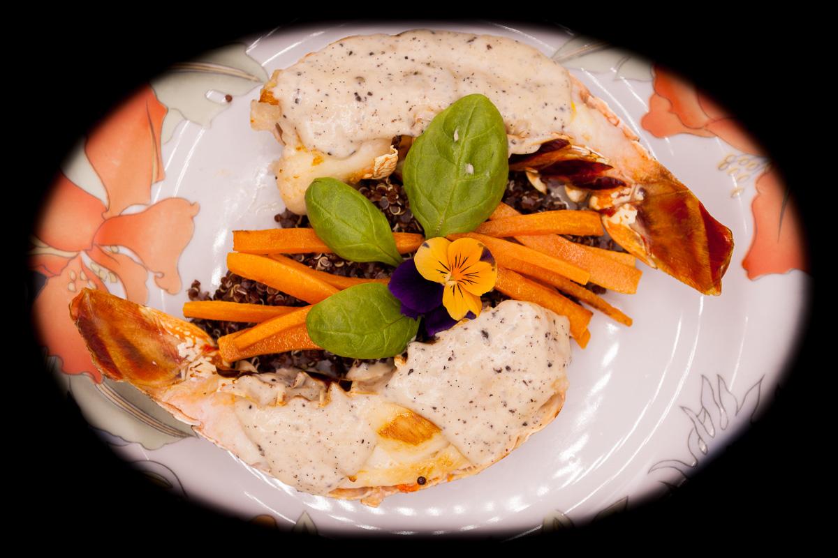Histoire de Vanille, 100% Bio - Langouste Quinoa Carotte à la sauce vanillée