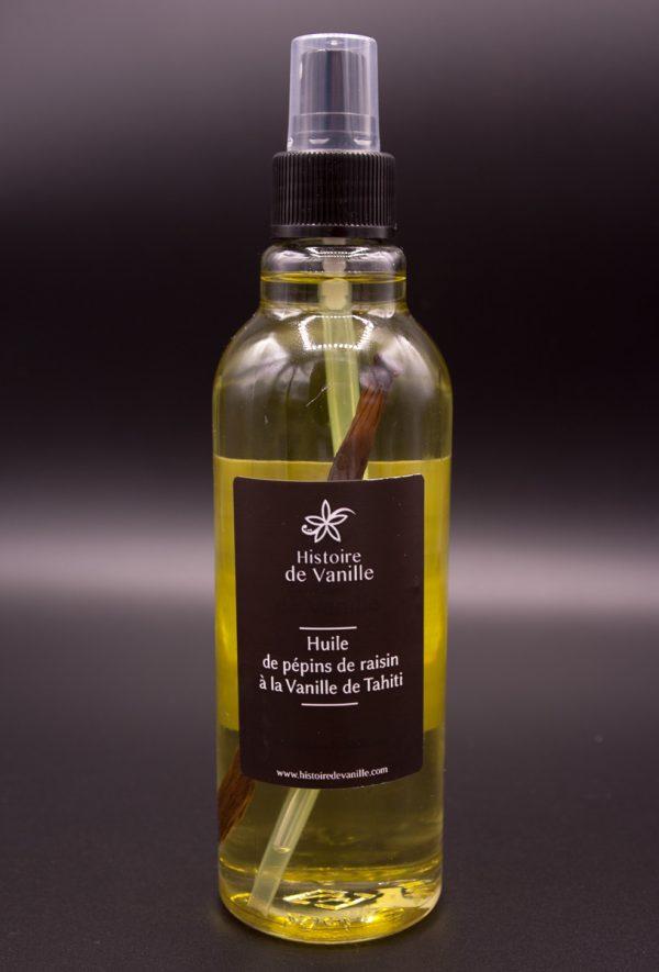 Histoire de Vanille, 100% Bio - Huile de pépin de raison à la vanille